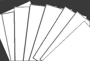 Gummiertes Papier